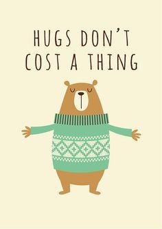 Nursery art print nursery bear bear hugs baby by BubbleGumYears