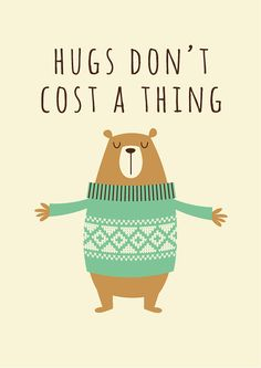 Nursery art print nursery bear bear hugs baby by BubbleGumYears