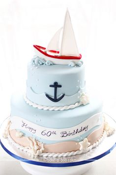 Sail boat and underwater theme cake by Bake-a-boo Cakes NZ