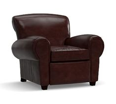 Manhattan Leather Recliner, Polyester Wrapped Cushions, Espresso