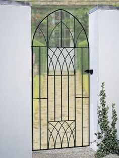 The Abbey Bow Top Gates are constructed using solid steel for a traditional wrought iron gate appearance. The decorative Gothic design creates an attractive entrance to your garden at an affordable price. Metal Garden Gates, Metal Gates, Wrought Iron Fences, Metal Fences, Side Gates, Entry Gates, Timber Gates, Tor Design, Gates And Railings