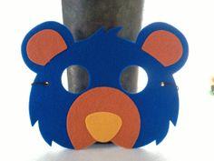 Bear Critter Mask, Felt Animal Mask, Kids Dress Up