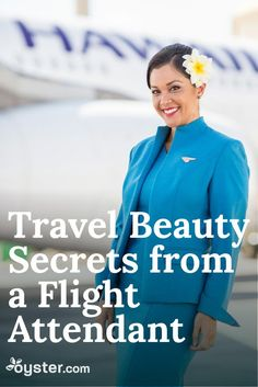 Air travel can wreak havoc on the most seasoned traveler. Skin gets dehydrated, makeup smudges, and jet lag puts wear and tear on you. No one knows this better than flight attendants. Heather Sanchez, who has flown with Hawaiian Airlines for 10 years, has become an expert in looking polished and feeling refreshed from wheels up to wheels down. She's letting us in on her top secrets and beauty hacks.