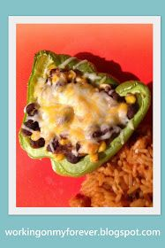 Working on My Forever: Weight Watchers Black Bean Stuffed Peppers