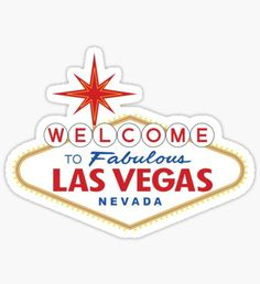 Welcome to Fabulous Las Vegas Sign Pegatina