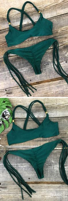 Give this season even more pop! Big Sale-Only $19.99! Green and straps are never go out of style! You Just need such a Swimsuit at Cupshe.com !
