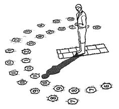 Create a human sundial in your garden! It makes a great educational project!