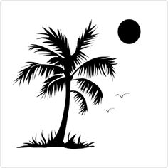 Crafters Workshop Templates 12 Inch X 12 Inch-Palm Tree