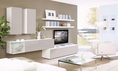 Simple living room storage and TV unit