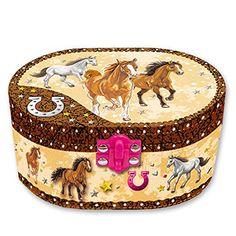 ON SALE now at http://JewelryDealsNow.com/?a=B00W0J3KPG : Hot Focus Dashing Horse Oval Shaped Musical Jewelry Box