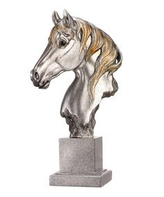 Love this Silver Horse Bust on #zulily! #zulilyfinds