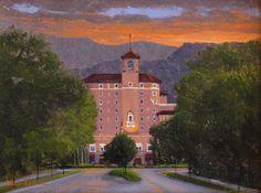 AVAILABLE I Broadmoor Grandeur I 6x8 I Dix Baines I Fine Artist Original Oil Paintings I Mountains I The Broadmoor Hotel I www.dixbaines.com