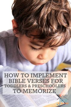 Do you want to start teaching Bible verses for toddlers and preschoolers early? These tips will show you how to do where they can memorize them easily.