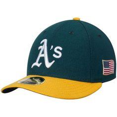 0926c6c88cc8c Men s Oakland Athletics New Era Green Authentic Collection On-Field 59FIFTY  Low Profile Flex Hat
