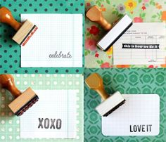 awesome! ann marie loves paper is on uncovet.  I love rubber stamps!