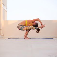 """Padangushthasana • One-Legged Squat Pose I saw someone doing this pose with both hands gripping the leg raised! I was so excited to attempt it myself,…"""