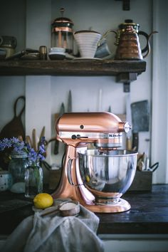 Lemon Olive Oil Cake with Hibiscus Cream Cheese Buttercream + A KitchenAid Stand Mixer Giveaway — Adventures in Cooking Copper Kitchen Aid, Rose Gold Kitchen, Barn Kitchen, Kitchen Aid Mixer, Kitchen Dining, Kitchen Decor, Kitchen Appliances, Kitchens, Best Stand Mixer