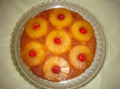 pineapple upside down cake from scratch. Need to change a few measurements though....