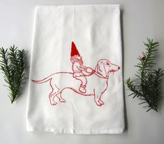 Hey, I found this really awesome Etsy listing at https://www.etsy.com/listing/88095965/dachshund-gnome-kitchen-tea-towel-hand Dish Towels, Hand Towels, Tea Towels, Dog Lover Gifts, Dog Gifts, Christmas Towels, Dachshund Gifts, Flour Sack Towels, Hostess Gifts