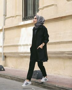 Let today be the start of something new Modern Hijab Fashion, Hijab Fashion Inspiration, Muslim Fashion, Modest Fashion, Fashion Outfits, Dress Outfits, Dresses, Casual Hijab Outfit, Hijab Chic