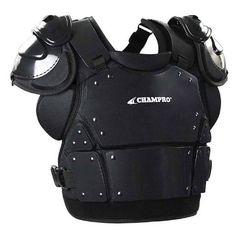 Champro Pro-Plus Umpire Chest Protector Plate Armour Baseball Softball Black CP3