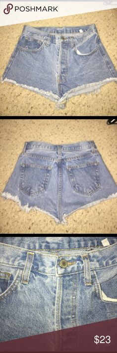 Brandy Melville Jean shorts These jean shorts are super comfortable and cute. They are a light jean color. They are high wasted as well. Brandy Melville Shorts Jean Shorts