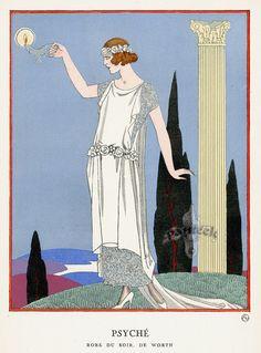 La Gazette du Bon Ton - Worth - Robe du Soir 'Psyché' - 1921