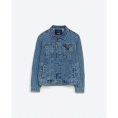 Zara Basic Denim Jacket (€71) via Polyvore featuring men's fashion, men's clothing, men's outerwear y men's jackets