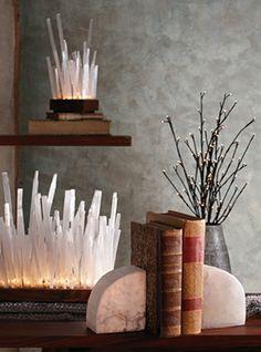 great lighting and great selenite.  Fun for winter displays!