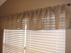 One Hour Burlap Kitchen Curtain Tutorial CurtainsCurtain TutorialBasic SewingHoney BeesSunroom