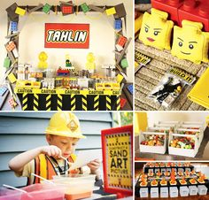 Hold onto your hard hats! Daneve Frankish of Ah - Tissue built an AMAZING Lego Construction Party for her son Tahlin's 5th birthday! http://hwtm.me/15D8aiN #Lego #Construction