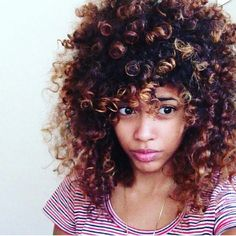 Curly hair. To learn how to grow your hair longer click here - http://blackhair.cc/1jSY2ux