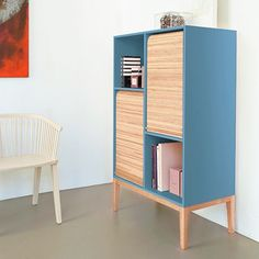 Double Cabinet - Light Blue -by Colé #MONOQI