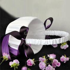 Pillow avail K1BO Romantic Wedding Ceremony Flower Girl Basket Satin Bowknot Decor   eBay