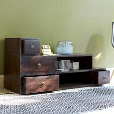 Meuble TV en acajou 120 Classika Mini Step