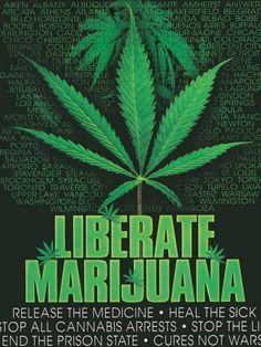 Liberate Marijuana Poster