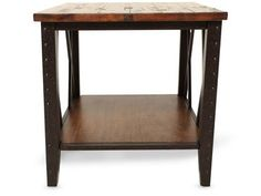 Magnussen Home Fleming End Table Depth (front to back): 24.00 Height (bottom to top): 28.00 Width (side to side): 24.00