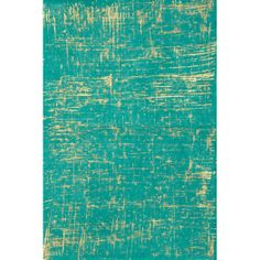 Brush Stroke Gold on Sea Green Fine Paper