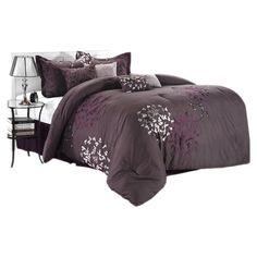 Found it at Wayfair - Cheila 8 Piece Comforter Set in Plum