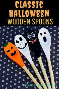 Classic Halloween Wooden Spoons | Growing up Madison