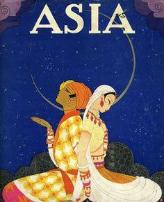 Dreamy Art Deco Magazine Covers for Asia Magazine by Frank McIntosh Art Deco Illustration, Alphonse Mucha, Art Nouveau, Art Deco Artists, Matou, Art Deco Posters, Famous Art, Vintage Travel Posters, Illustrations And Posters