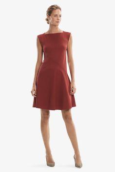 Pauline Dress - Brick Red | MM.LaFleur