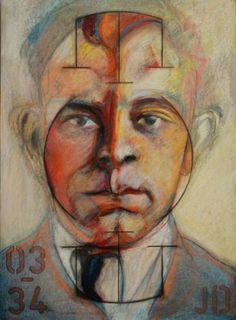 "Saatchi Art Artist David Thomas; Drawing, ""John Dillinger:"" #art"