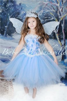 Winter Snow Fairy Costume  Icy Fairy Snow by Baby2BNashville, $80.00
