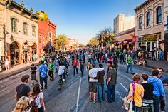 Austin, Texas. 6th Street ... lots of people, lots of bars, lots of fun. Can you say college town?!