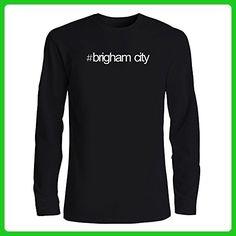 Idakoos - Hashtag Brigham City - US Cities - Long Sleeve T-Shirt - Cities countries flags shirts (*Amazon Partner-Link)