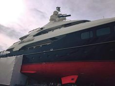 Our well established, expert #ABCPaint team have recently started a large project on board 45m Hakvoort Grootkeukens built #MYAwatea.  #SuperyachtFinishingService www.absoluteboatcare.net