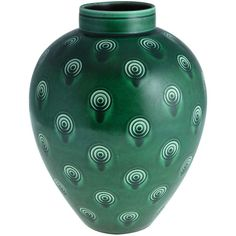In 1933 Niels Thorsson was appointed Artistic Director at Aluminia, a branch of Royal Copenhagen. This striking large vase is from a pattern designed in the mid 1930s.