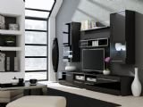 This TV cabinet is built with iluminated glass shelves and black high gloss finished surface. The high gloss finish keeps to the style of your entertainment system.