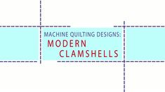 Watch Machine Quilting Designs: Clamshell in the All People Quilt Video